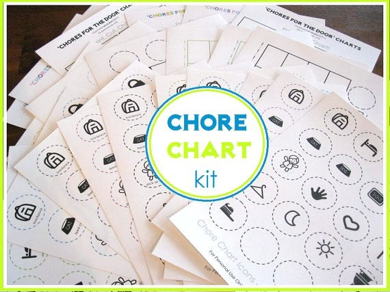 Chore Chart Kit - 22 documents - INSTANT DOWNLOAD
