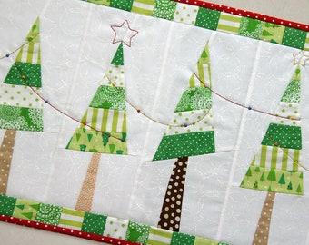 Festive Christmas Tree Table Runner PDF Pattern
