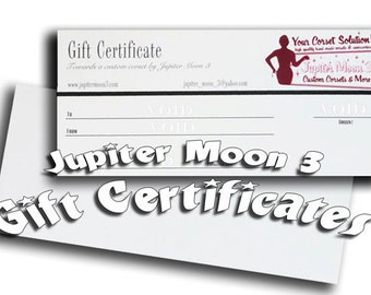 Gift Certificate: Three hundred dollars for a CUSTOM CORSET by Jupiter Moon 3