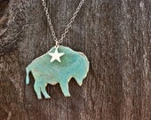 Patina Buffalo Necklace