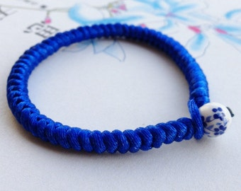 China Blue Chinese knot bracelet ( made to order)