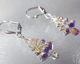 Swarovski Crystal  Christmas Tree Earrings. Christmas Earrings, Tree earrings, Swarovski jewelry, Crystal earrings, Christmas jewelry