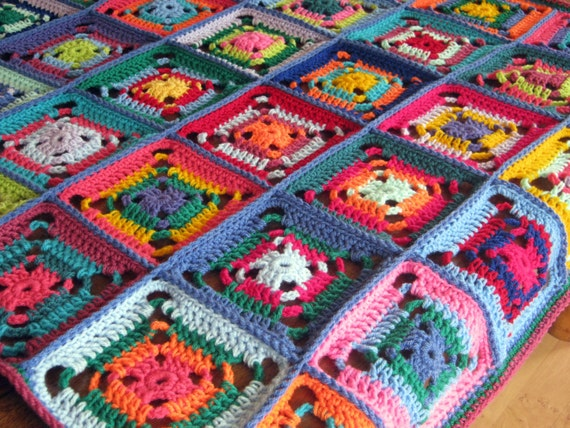 Love Of Crochet Com : For the Love of Crochet Along: Patchwork Granny Square Crochet Blanket