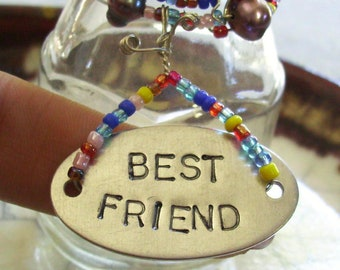 Best Friend - Wire Wrapped Beaded Bottle - Plant Rooter