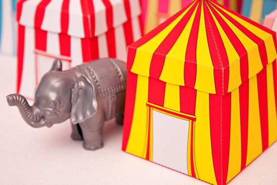 Like this item? & Circus Tent Favor Box : Print at Home Full-Color Template