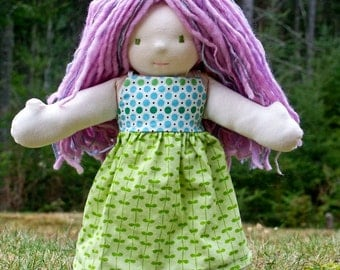 Instant PDF download Waldorf Doll or American Girl Doll Pull On Dress Pattern and Tutorial