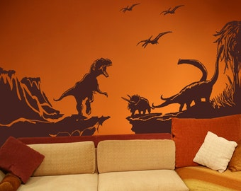 Vinyl Wall Decal Sticker Dinosaur World GFoster170B