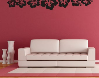 Vinyl Wall Decal Sticker Hawaiian Flowers OSAA240B