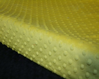 Canary Yellow MINKY Changing Pad Cover- Yellow Changing Pad Cover -  Yellow Change Pad Cover - Minky Change pad cover - Ready to Ship