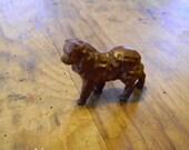 Miniature Metal Chow Dog
