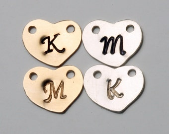 For tyrahandmadejewelry Jewelry buyer ONLY,Add Sterling Silver or Gold filled heart initial letter charm, monogram charm, personalized