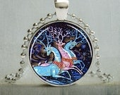 Reindeer Pendant, Reindeer Jewelry, Russian Reindeer Necklace (987)