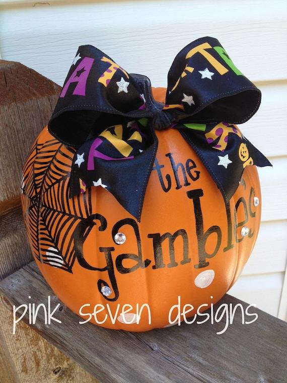 Halloween Family Name Pumpkins