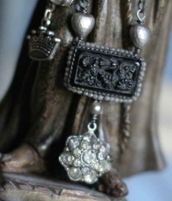 Faithful - assemblage necklace