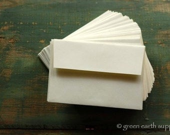 100 A2 Envelopes: 100 Recycled and Eco-Friendly Envelopes, 4 3/8x 5 3/4 (11.1 cm x 14.6 cm), white, natural white or ivory