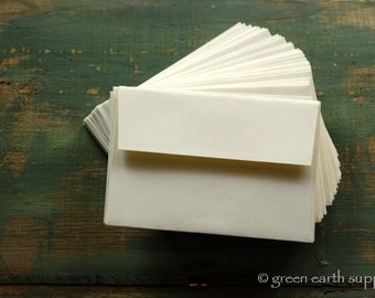 50 A1 Envelopes: 50 Recycled and Eco-Friendly Envelopes, 4bar envelopes, 3 5/8 x 5 1/8 (9.2 x 13 cm), ivory or bright white