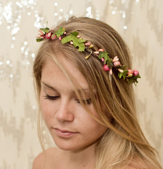 Twisted Pink Garden Fairy Nature Crown