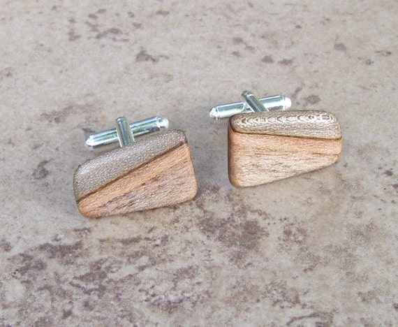 Spalted Maple Wood Wooden Cufflinks  - 189