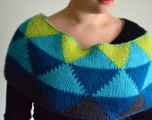 Honors Geometry Cowl Knitting Pattern by Katie Canavan