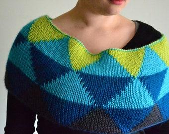 Honors Geometry Cowl Knitting Pattern by Katie Canavan
