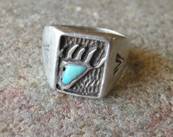 Sterling Bear Claw Ring