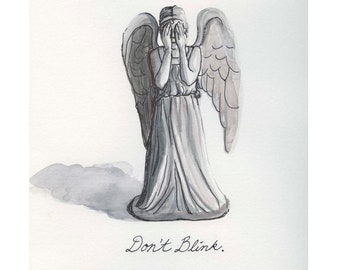 Weeping Angel 8.5x11 print, Don't Blink