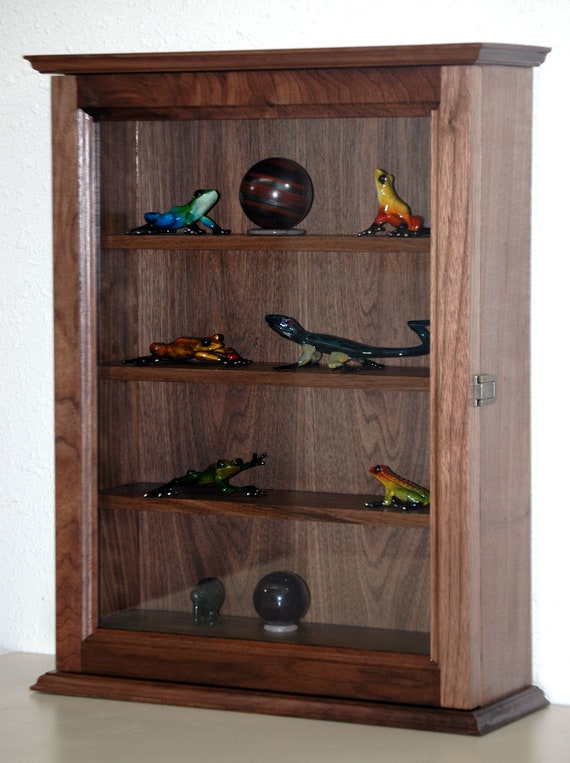 Walnut Curio Display Cabinet