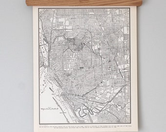 Buffalo 1930s Map | Antique Upstate New York City Map