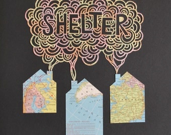 SHELTER - papercut illustration