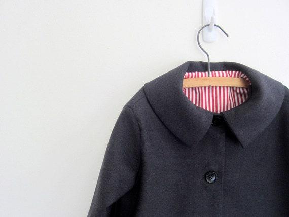 SALE Childs wool coat 2T - vintage style