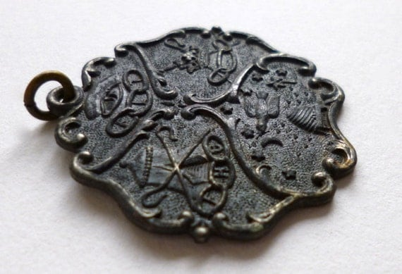 Antique Medal Odd Fellows Secret Society Fraternal