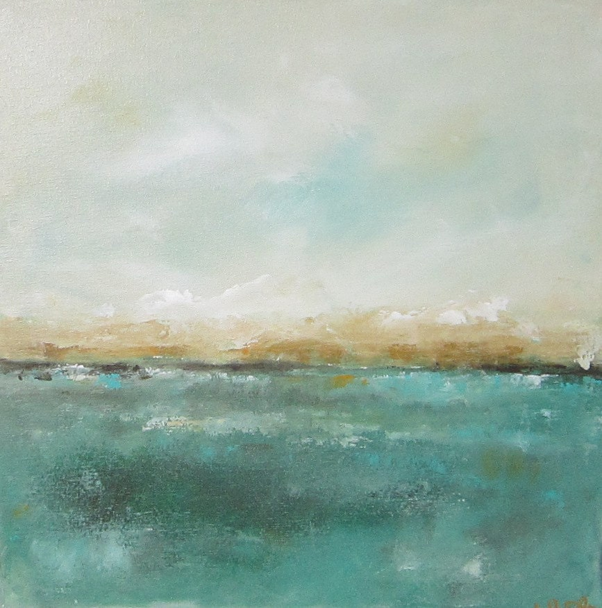 Abstract Seascape Ocean Original Art Mendocino View 20 x 20