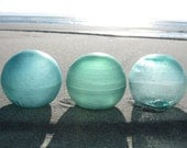 Japanese Glass Fishing Floats - Ocean Inspired Collection of 3, Alaska Beachcombed