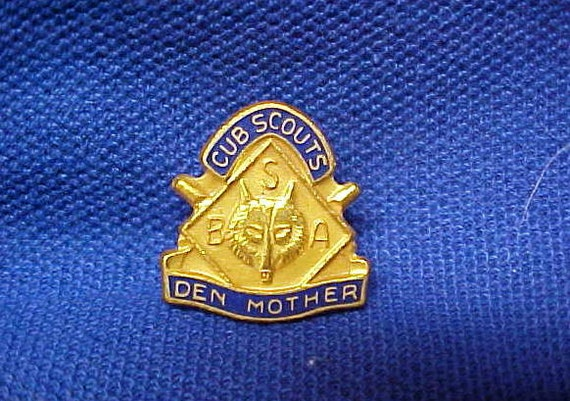 Vintage Boy Cub Scout Den Mother Pin Brooch 1950's