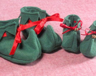 SALE-PDF-ePattern-Elf Booties for Babies and Dolls, Christmas Elf Shoes, Holiday Costume, Elf Shoes,Christmas Photo Prop