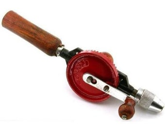 """Jewelry Hand Drill Eggbeater Style Tool - 11 3/4"""" - 298mm."""