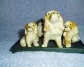 Cocker Spaniel Family  Group 3 Dogs Hard Plastic Figure
