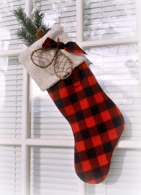 Maroon Christmas Stockings