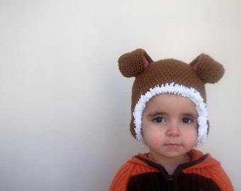 Tan color Baby Bunny Hat- Rabbit Hat
