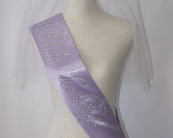 Bride To Be- Bachelorette Sash - Lilac