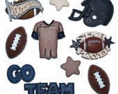 Jesse James Buttons Football Button Embellishments Novelty Sports Themed