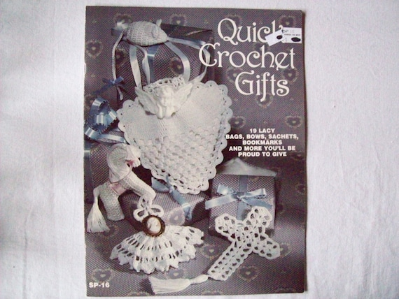 Crochet Patterns For Quick Gifts : Quick Crochet Gifts Vintage Thread Crochet pattern book