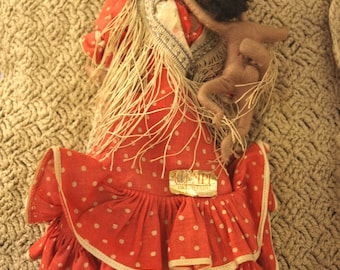 Vintage Klumpe Mother and Child Doll