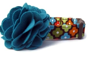 Fall Dog Collar and Flower Accessory - Autumn Annie Flowers