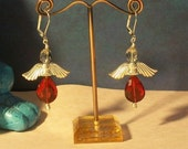 SALE Red Angel Earrings