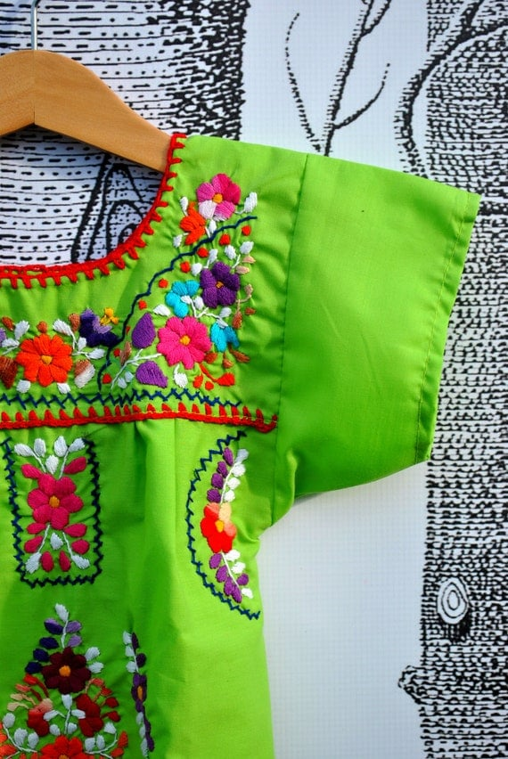 Mexican Infant Embroidered Dress For 12-18 Months