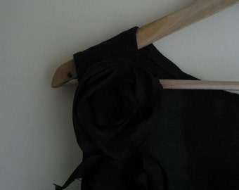 Black Linen Top/ Backless Top by NervousWardrobe on Etsy