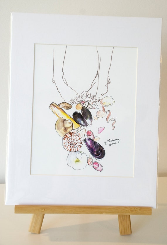 Summer Toes Watercolor Print