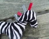 Baby Toy Sensory Plush Zebra Toy Baby Shower Gift