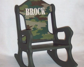 Child's Rocking Chair - camo - toddler
